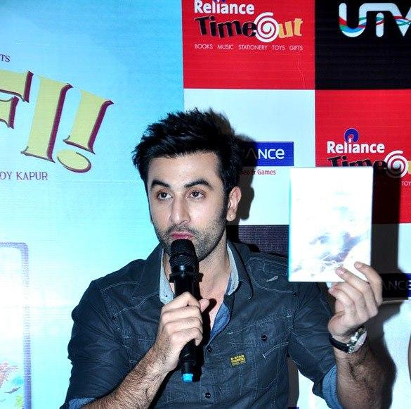 Ranbir Shows The DVD To The Camera At Barfi Dvd Launch