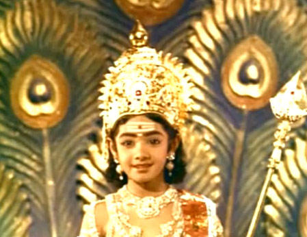 Sridevi Kapoor Cute Look In Thunaivan Movie