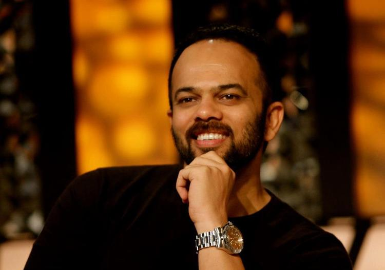 Rohit Smilling Still At The Front Row Show With Anupama Chopra