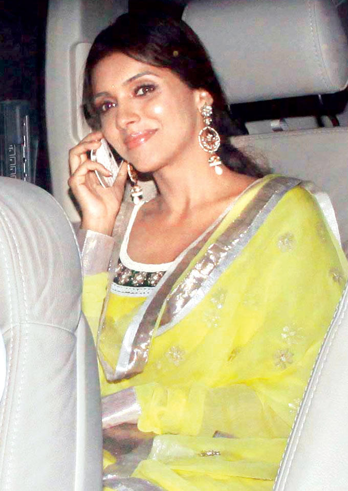 Asin Thottumkal Snapped In Car At Amitabh Bachchan Diwali Party
