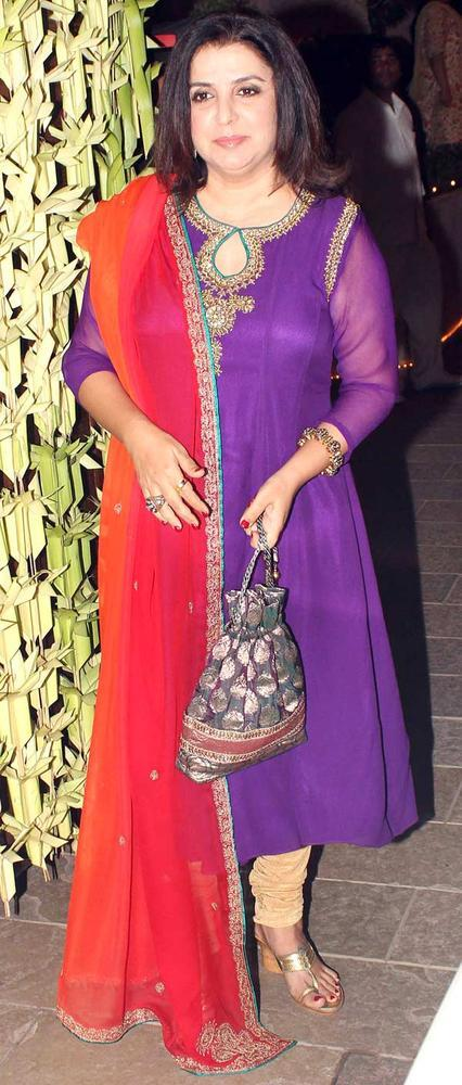 Farah Khan At Big B Diwali Bash