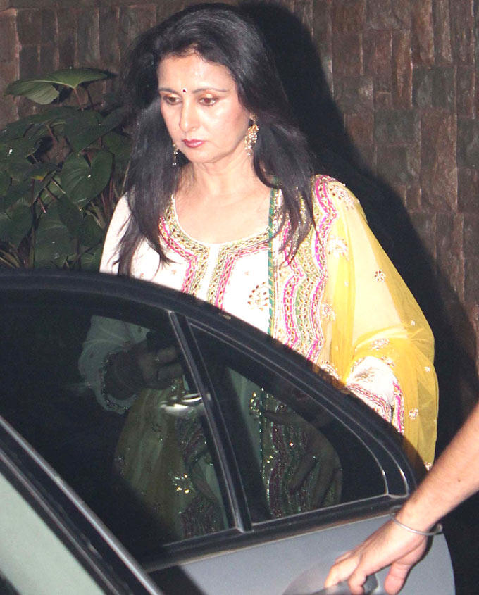 Poonam Dhillon Spotted At Amitabh Bachchan Diwali Party