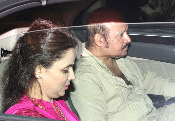 Rajesh With Wife Attend The Diwali Party Of Amitabh Bachchan