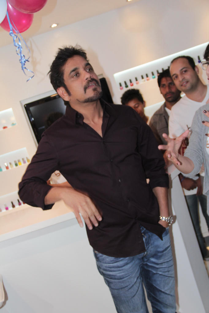 Nagarjuna At B-Blunt Salon Launch