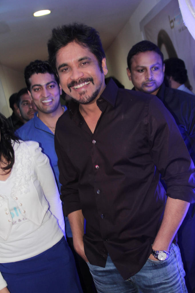 Nagarjuna Smiling Pose At B-Blunt Salon Launch