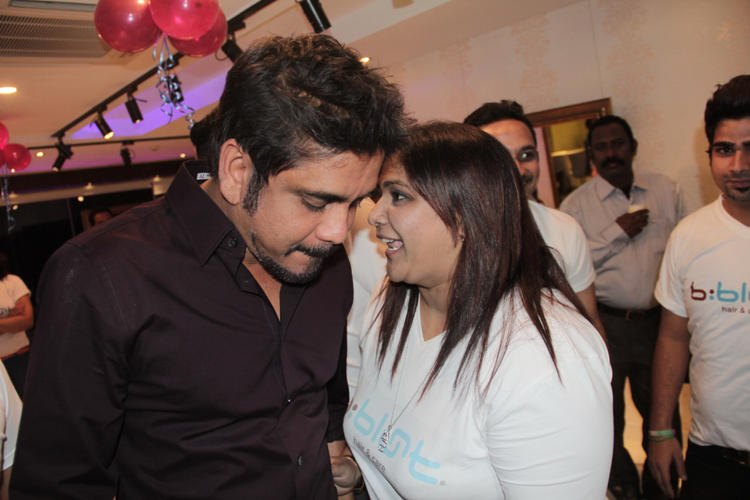Nagarjuna Talking Still B-Blunt Salon Launch