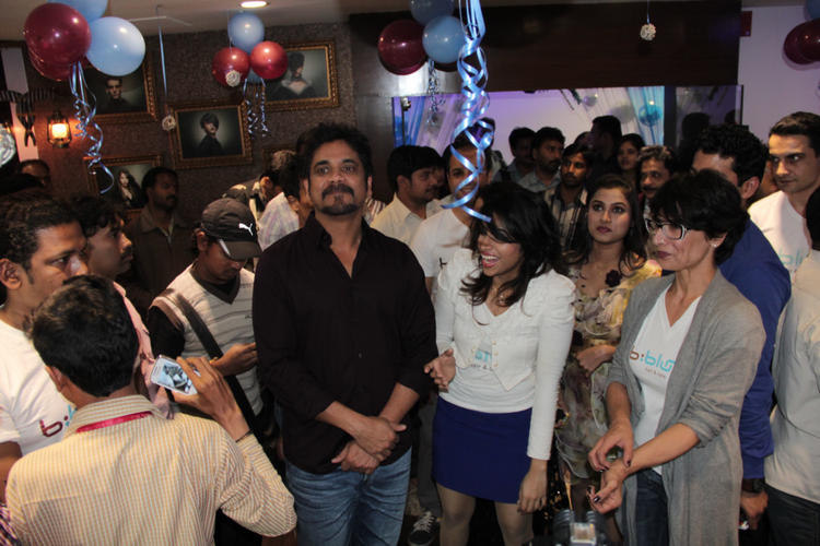 Nagarjuna,Adhuna And Others Clicked At B-Blunt Salon Launch