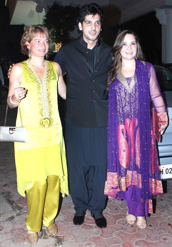 Zayed With Wife Malaika Posed At Shilpa Shetty Diwali Bash
