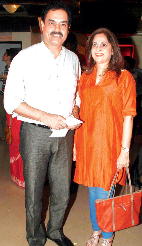 Dilip With Wife Manali At Son Of Sardaar Special Screening