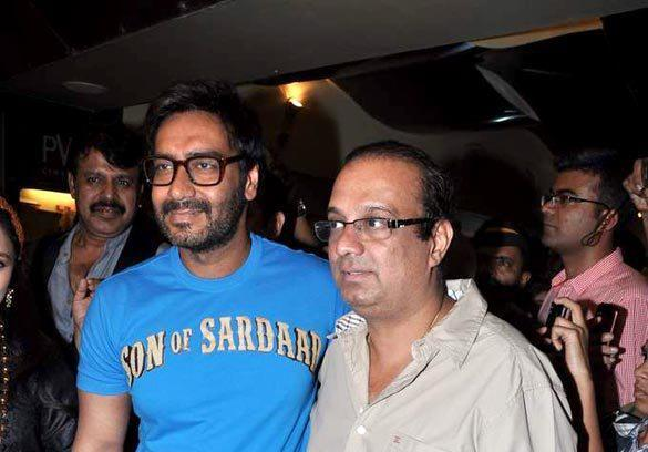 Krishna And Ajay Spotted At Son Of Sardaar Special Screening