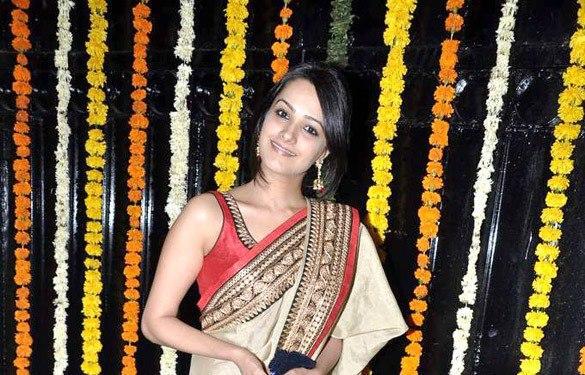 Anita Looked Gorgeous In Saree At Ekta Kapoor Diwali Bash