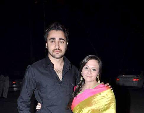 Imran With Wife Avantika Smiling Still At Ekta Kapoor Diwali Bash
