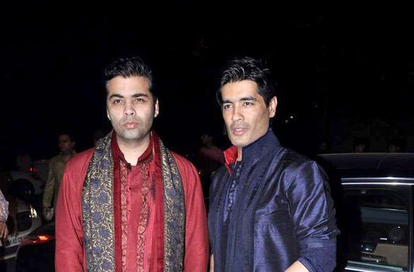 Karan And Manish Spotted At Ekta Kapoor Diwali Bash Held In Mumbai