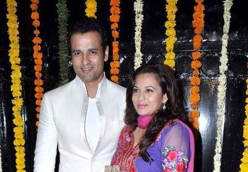 Rohit With Wife Mansi Snapped At Ekta Kapoor Diwali Bash