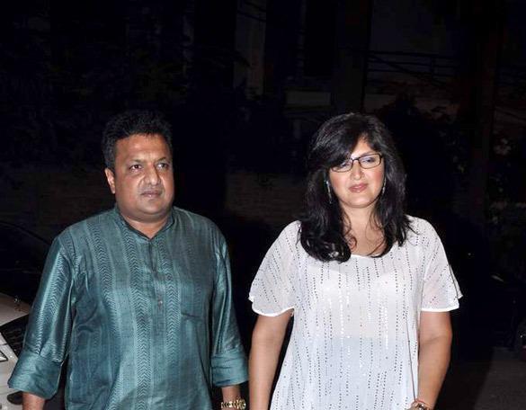 Sanjay With Wife Snapped During Ekta Kapoor Diwali Bash Held In Mumbai