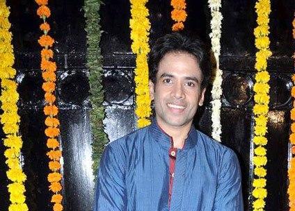 Tusshar Posed For Camera With Cute Smiling At Ekta Kapoor Diwali Bash