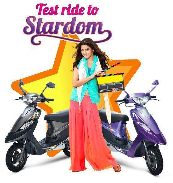 Anushka Sharma Riding TVS Scooty Add Poster