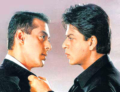 Salman And Shahrukh A Still From Hum Tumhare Hai Sanam Movie