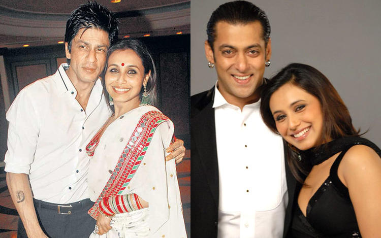 SRK With Rani Smiling Posed Pic And Salman With Rani Nice Posed Still