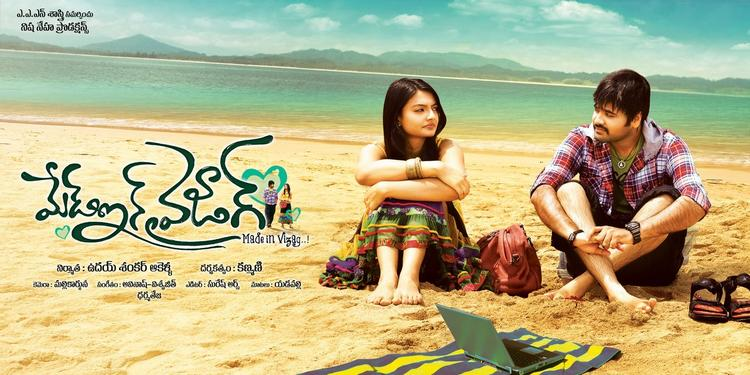 Yashwin And Nikitha On Beach Wallpaper For Movie Made In Vizag