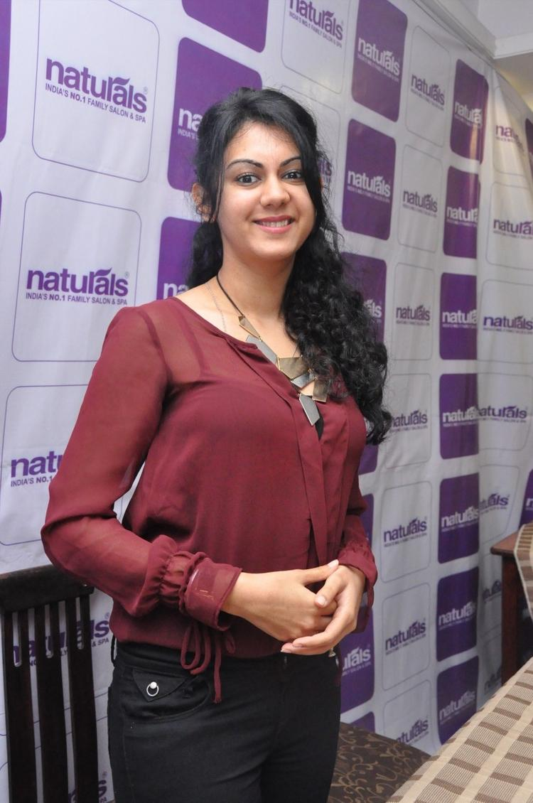 Kamna Spotted At Naturals Franchise Launch Function