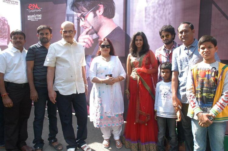 Krishna,Vijaya,Sudheer And Nandita Posed At Premakatha Chitram Opening