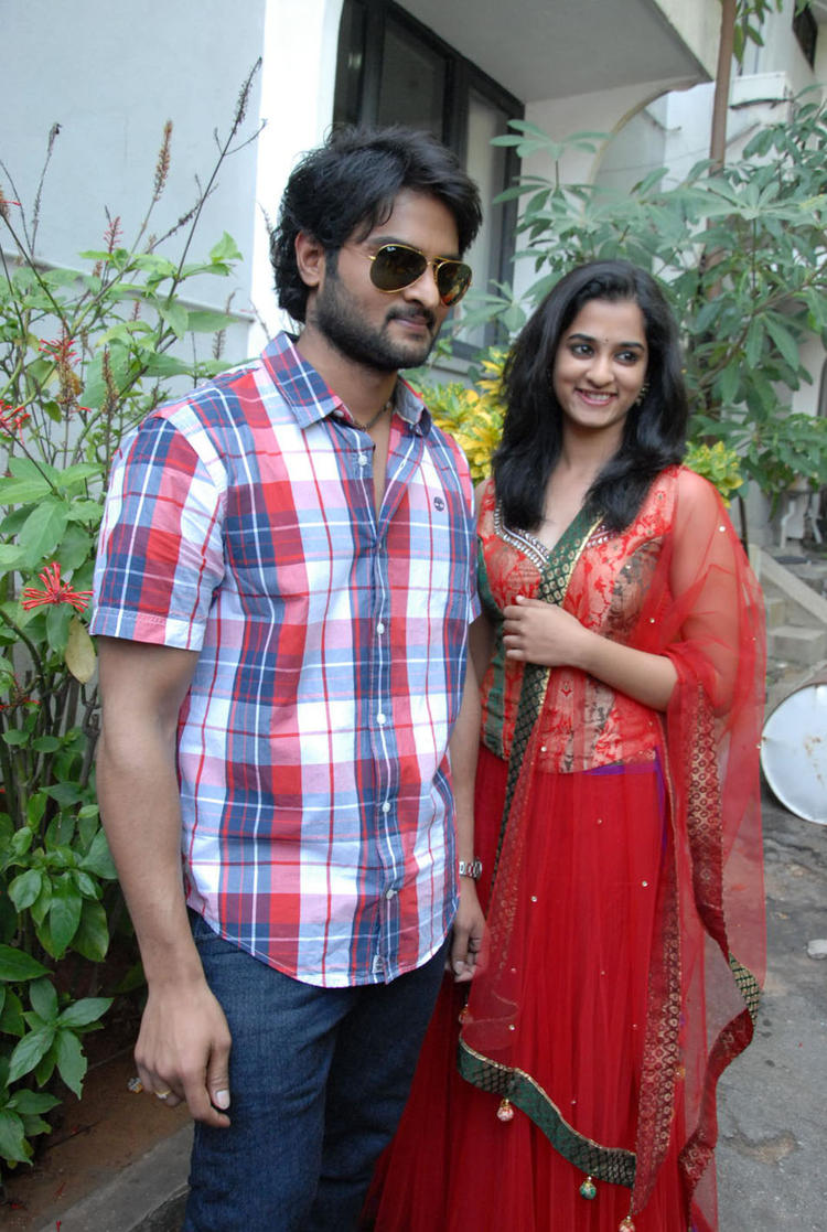 Sudheer And Nandita Clicked At Premakatha Chitram Opening