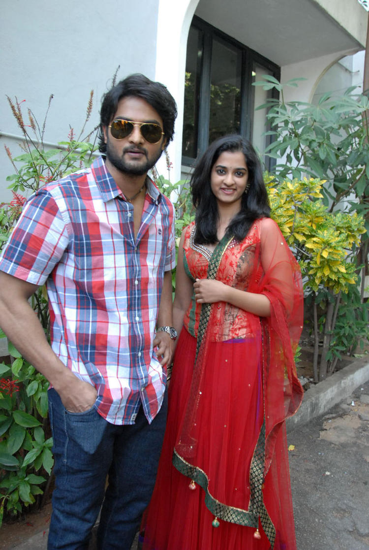 Sudheer And Nandita Posed During Opening Of Premakatha Chitram
