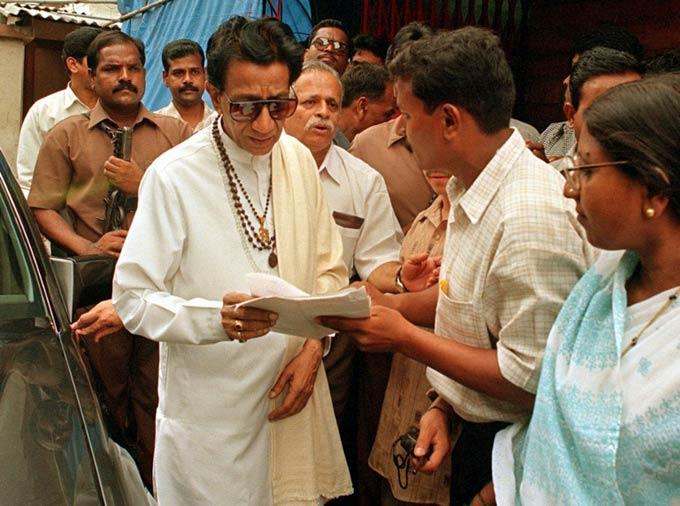 Bal Thackeray Receiving A Public Grievance