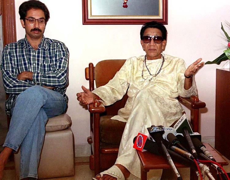 Bal Thackeray With Son Uddhav Thackeray Nice Still