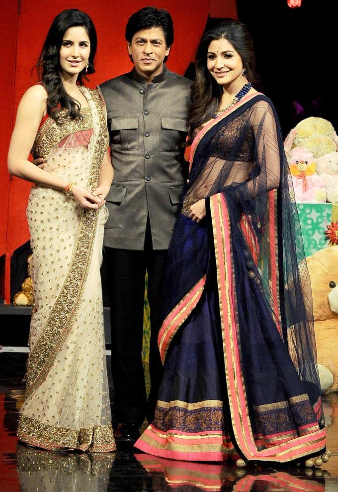 Shahrukh,Katrina And Anushka Attend The  India's Got Talent Grand Finale To Promote JTHJ