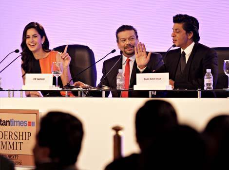 Shahrukh And Katrina Attend HT Leadership Summit
