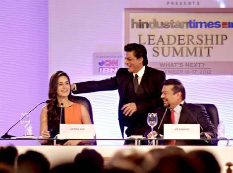 Shahrukh And Katrina Spotted At Hindustan Times Leadership Summit