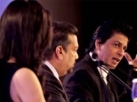 Shahrukh During The Press Conference Of HT Leadership Summit
