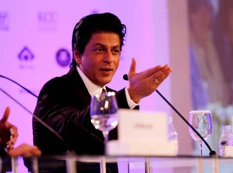 Shahrukh At A Press Conference Of HT Leadership Summit