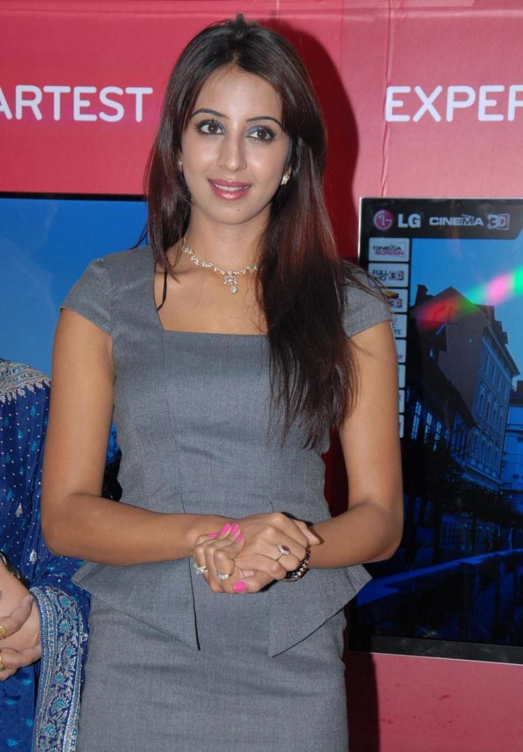 Sanjana Clicked At Bajaj Electronics Launching Event