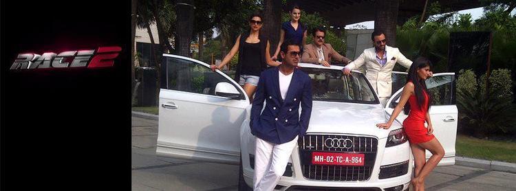 Saif,Deepika,John,Jacqueline,Anil And Ameesha Promote Audi Car