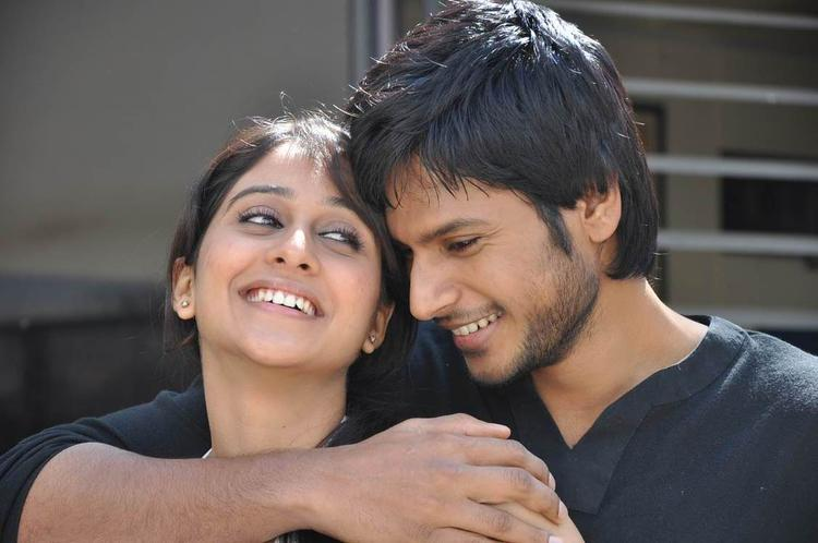 Sandeep And Regina Cool Smiling Still From Routine Love Story Movie