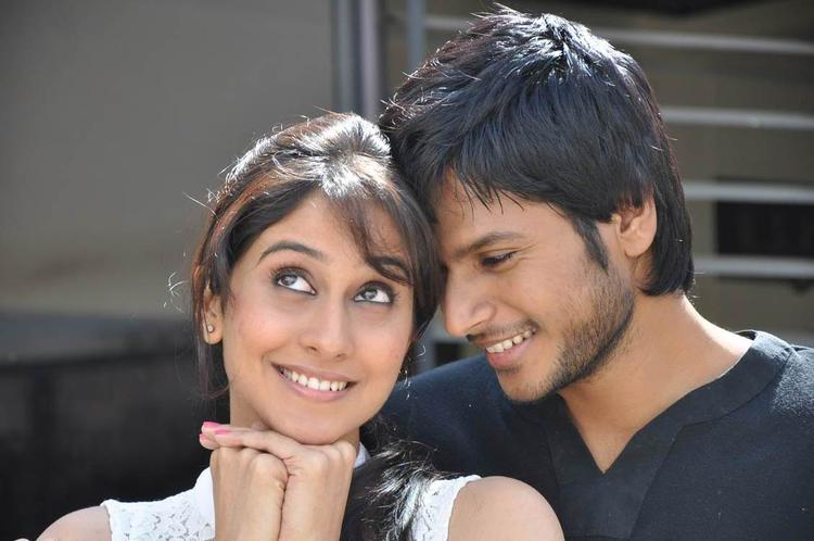 Sandeep And Regina Cool Still From Routine Love Story Movie