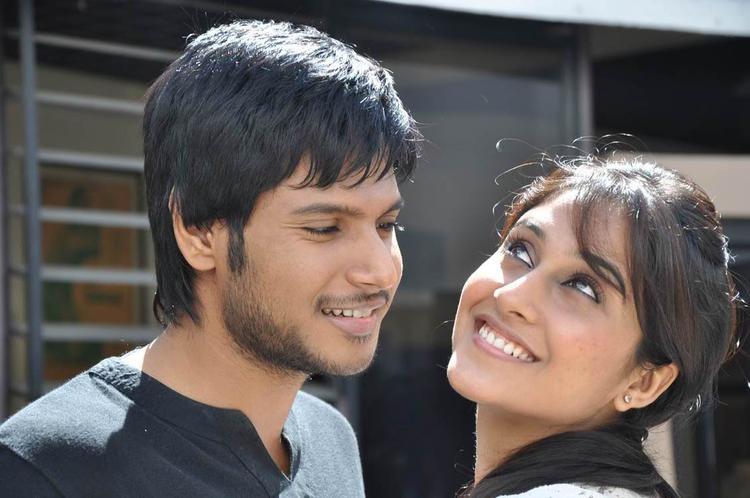 Sandeep And Regina Hot Still From Routine Love Story Movie