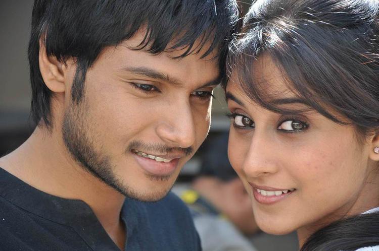 Sandeep And Regina Nice Look Still From Routine Love Story Movie