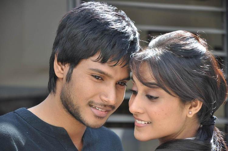 Sandeep And Regina Romance Scene From Routine Love Story Movie