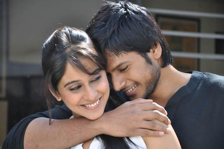 Sandeep And Regina Romantic Still From Routine Love Story Movie