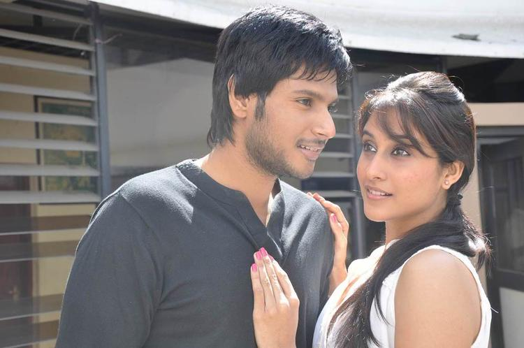 Sandeep And Regina A Scene From Routine Love Story Movie