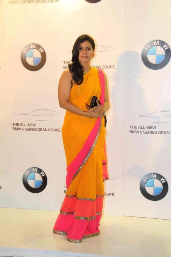 Kajol Dazzling Look Photo At Manish Malhotra Show For BMW 6 Series Gran Coupe Launch
