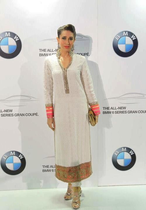 Karisma Spotted At Manish Malhotra Show For BMW 6 Series Gran Coupe Launch
