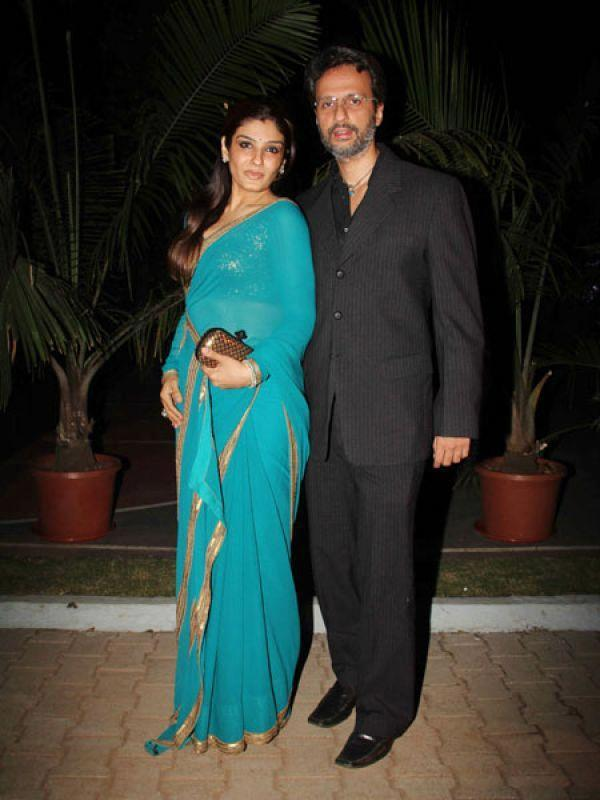 Raveena With Hubby Anil Snapped At Manish Malhotra Show For BMW
