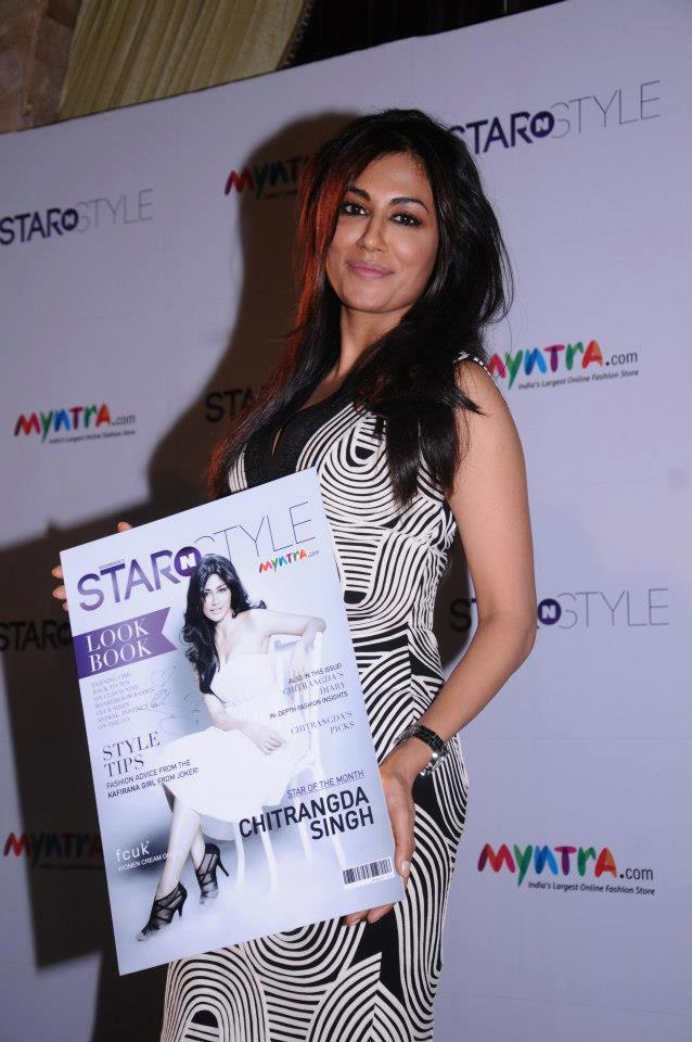 Chitrangda Nice Look With Cute Smiling At The Launch Of Star N Style 2nd Edition