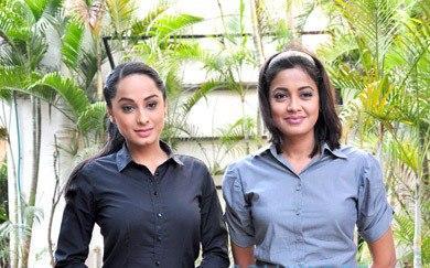 Ansha  And Janvi Smiling Look Still On The Sets Of CID