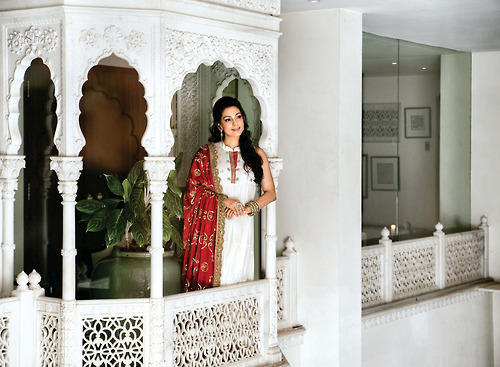 Juhi Chawla Ravishing Look Photo Shoot In A Blue Dress For Hello India November 2012 Edition